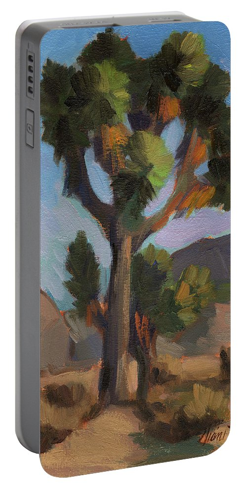 Joshua Tree Portable Battery Charger featuring the painting Joshua Tree 2 by Diane McClary
