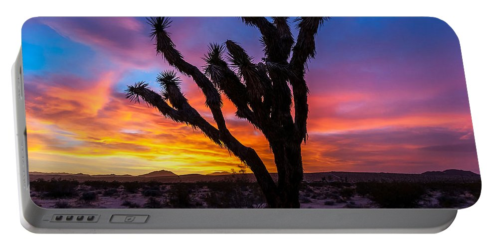 California Portable Battery Charger featuring the photograph Joshua Tree Silhouette by Ken Dugan