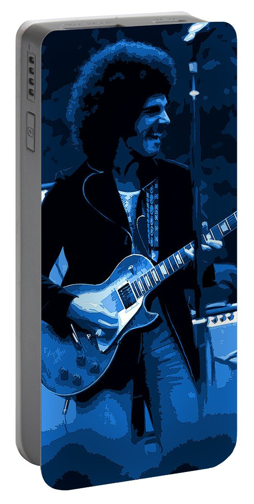 Journey Portable Battery Charger featuring the photograph Journey #18 Enhanced In Blue by Ben Upham