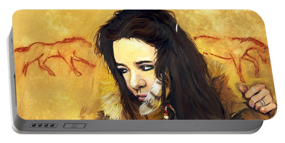 Southwest Art Portable Battery Charger featuring the painting Journey by J W Baker