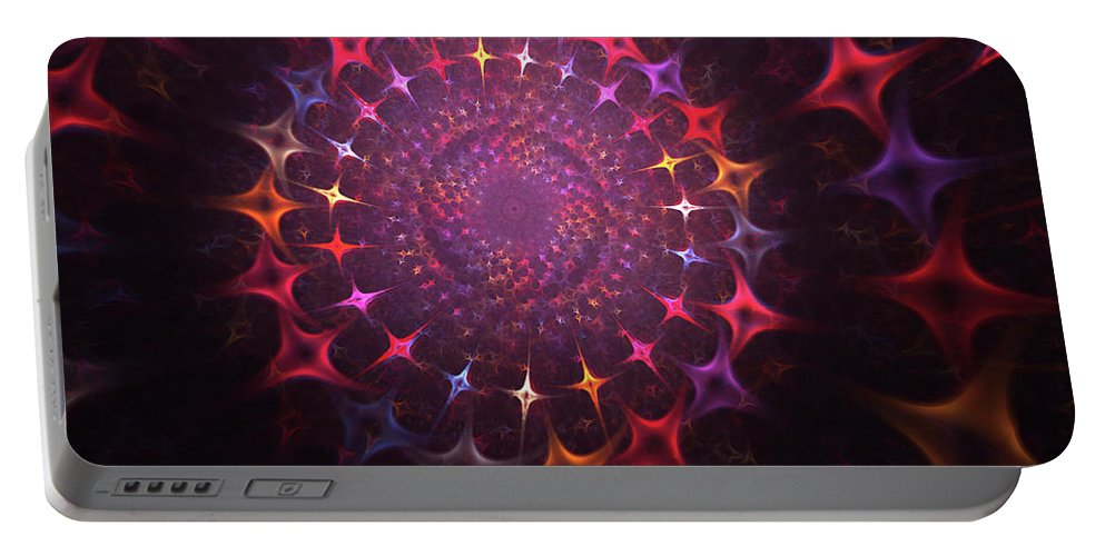 Souls Portable Battery Charger featuring the painting Journey Of The Souls by Steve K