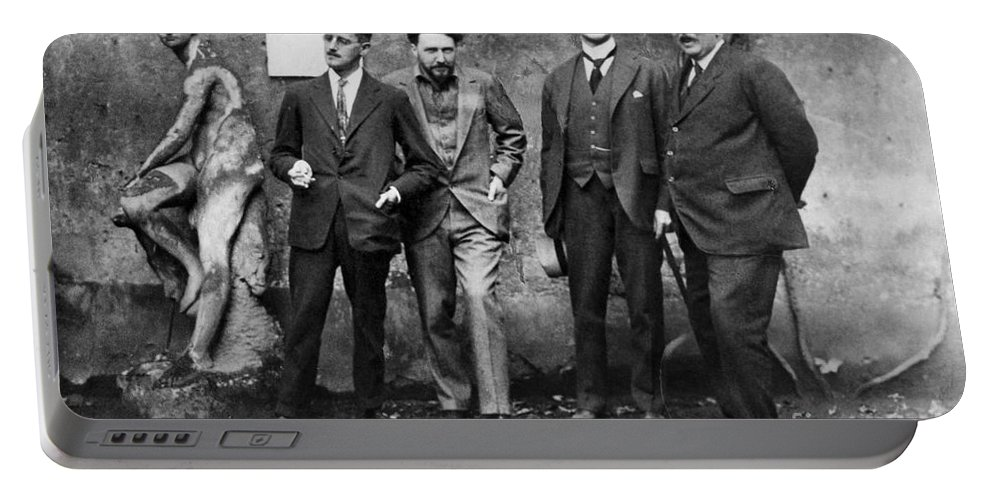 1923 Portable Battery Charger featuring the photograph Joyce, Pound, Quinn & Ford by Granger