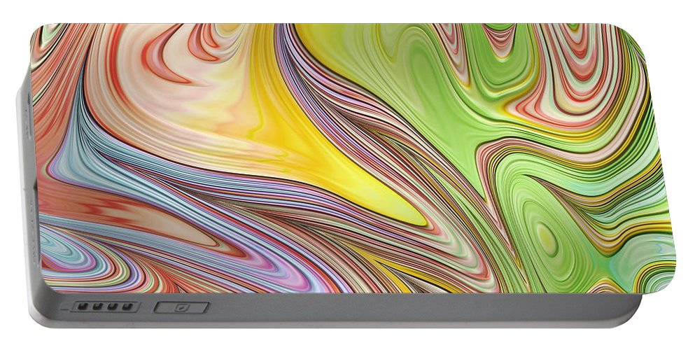 Joyful Abstract Portable Battery Charger featuring the digital art Joyful Flow by John Edwards