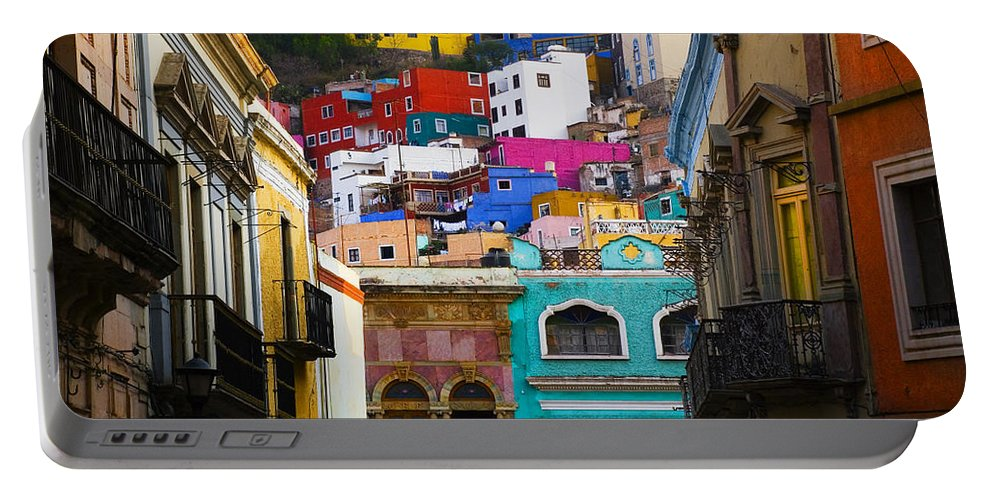 Architecture Portable Battery Charger featuring the photograph Juegos In Guanajuato by Skip Hunt
