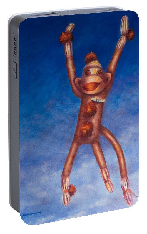 Children Portable Battery Charger featuring the painting Jump For Joy by Shannon Grissom