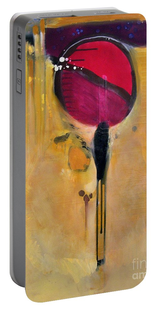 Abstract Portable Battery Charger featuring the painting Jumpin Jehosaphat by Marlene Burns