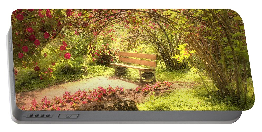 Bench Portable Battery Charger featuring the photograph June 20 2010 by Tara Turner