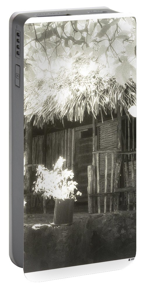 Fine Art Photography Portable Battery Charger featuring the photograph Jungle Hideaway by Jerry McElroy