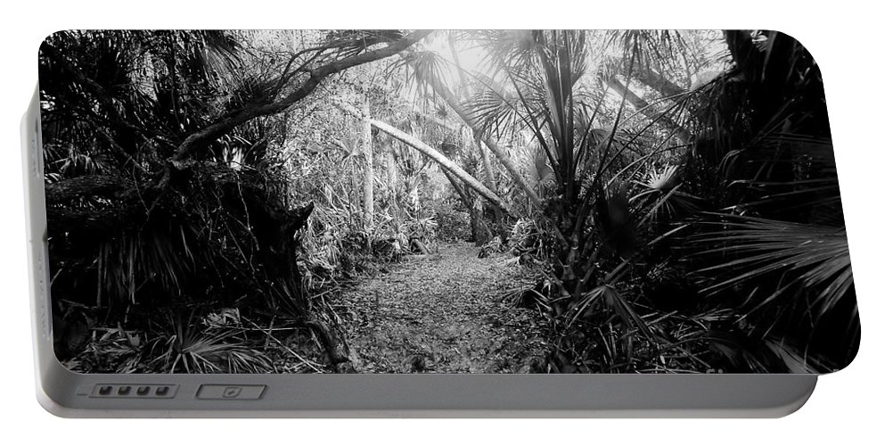 Jungle Portable Battery Charger featuring the photograph Jungle Trail by David Lee Thompson