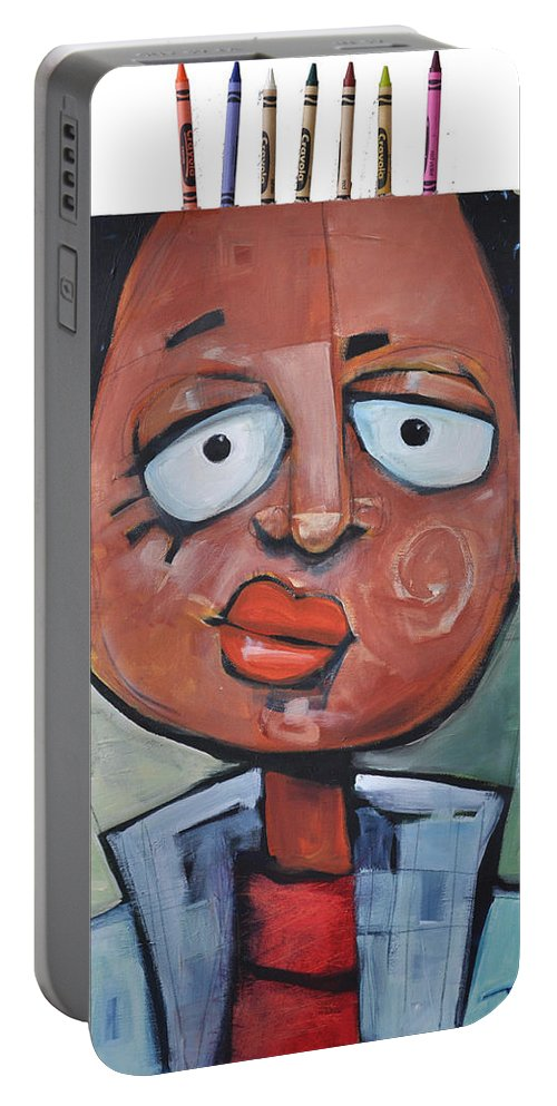Child Portable Battery Charger featuring the painting Junior Artist by Tim Nyberg