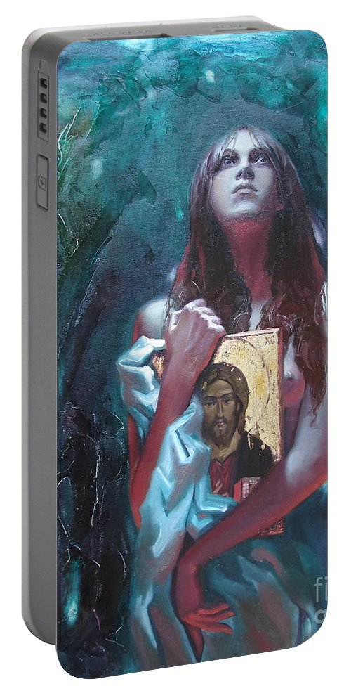 Ignatenko Portable Battery Charger featuring the painting Juno by Sergey Ignatenko