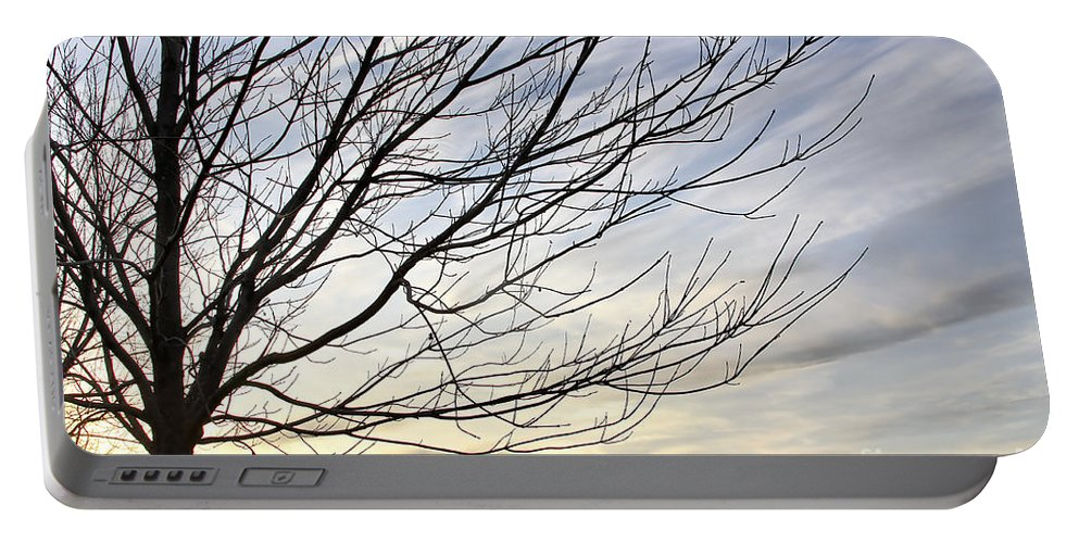 Sky Portable Battery Charger featuring the photograph Just A Tree And Clouds by Deborah Benoit