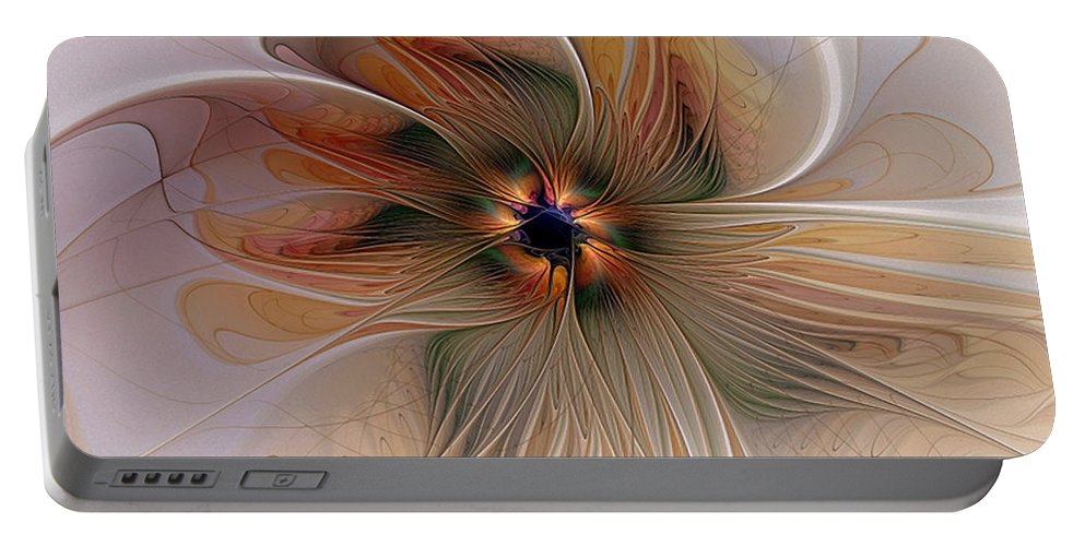 Digital Art Portable Battery Charger featuring the digital art Just Peachy by Amanda Moore