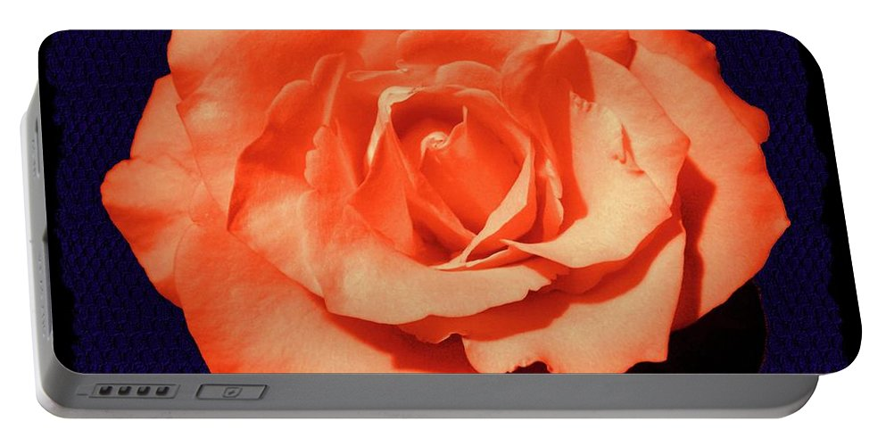 Rose Portable Battery Charger featuring the photograph Just Peachy by Lisa Pfeiffer