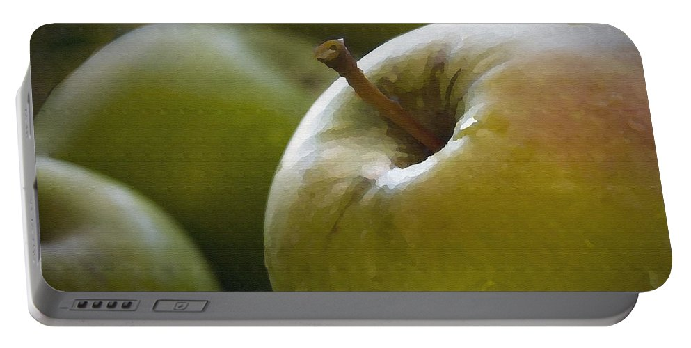 Fruit Portable Battery Charger featuring the photograph Just Picked by Sharon Foster