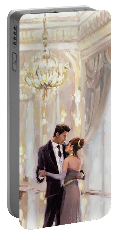 Romance Portable Battery Charger featuring the painting Just The Two Of Us by Steve Henderson