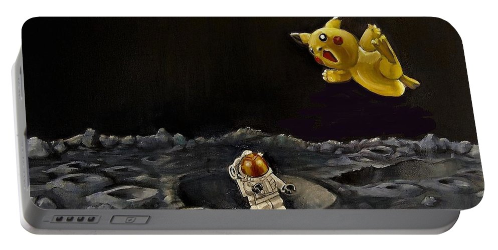 Pokeman Portable Battery Charger featuring the painting Just Trying To Get Back Home by Jean Cormier
