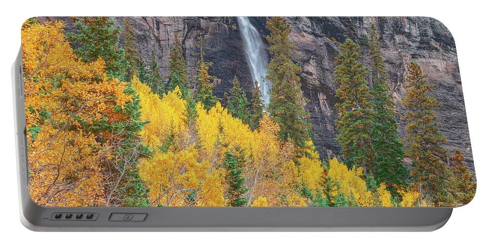 Bridal Veil Falls Portable Battery Charger featuring the photograph Justice Is The Only Worship. Love Is The Only Priest. by Bijan Pirnia