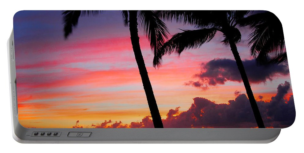 Kaanapali Sunset Portable Battery Charger featuring the photograph Kaanapali Sunset Kaanapali Maui Hawaii by Michael Bessler