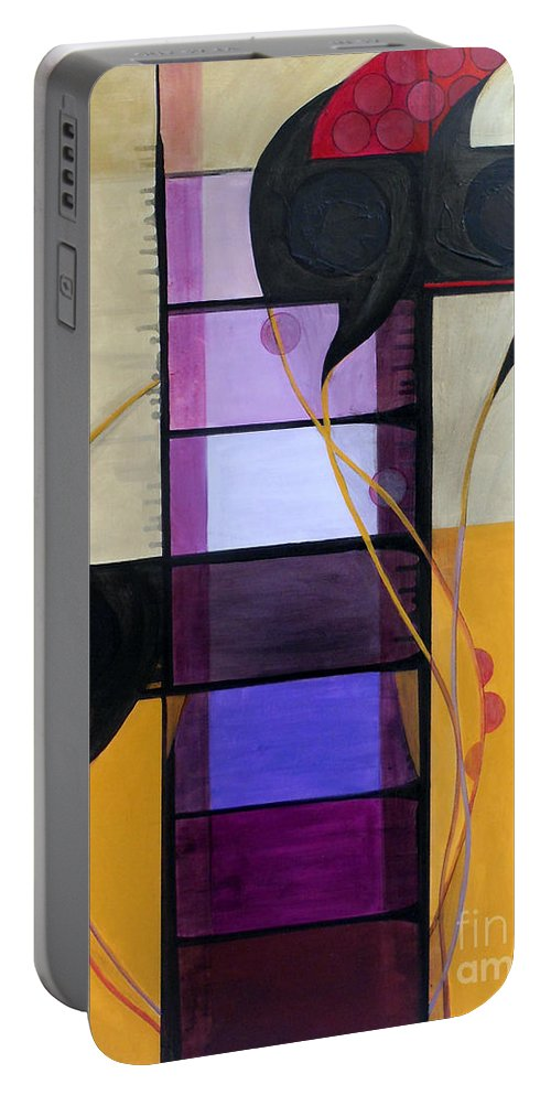 Judaic Portable Battery Charger featuring the painting Kaddish Yatom...mourner by Marlene Burns