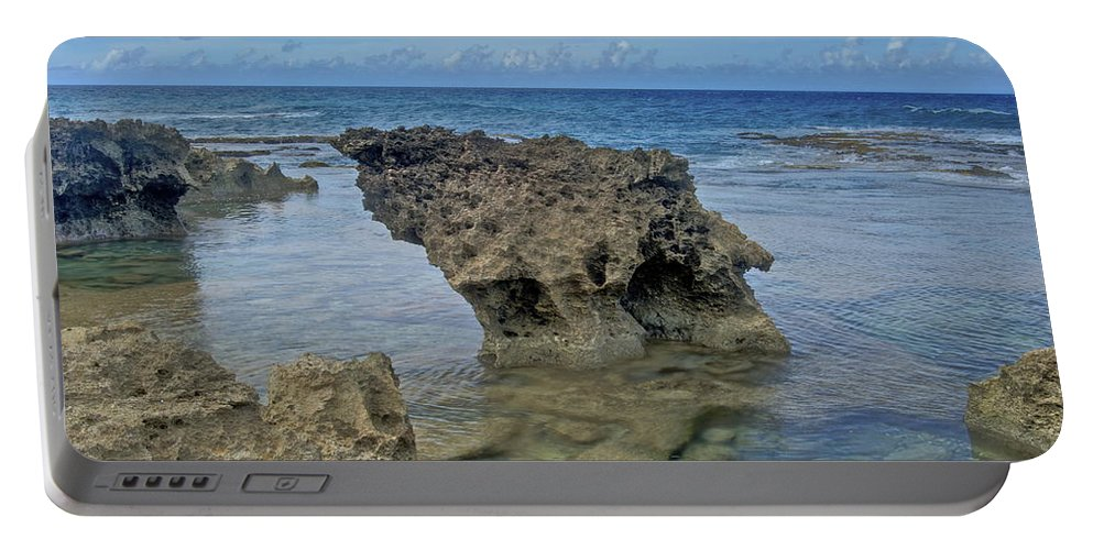 Landscape Portable Battery Charger featuring the photograph Kaena Point 7868 by Michael Peychich