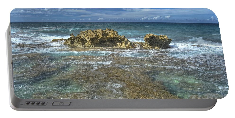 Landscape Portable Battery Charger featuring the photograph Kaena Point 7898 by Michael Peychich