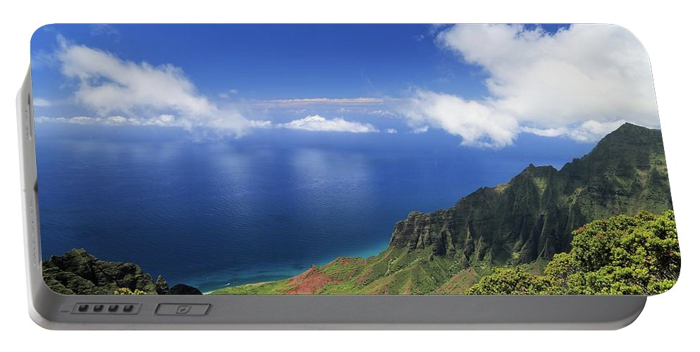 Photosbymch Portable Battery Charger featuring the photograph Kalalau Valley by M C Hood