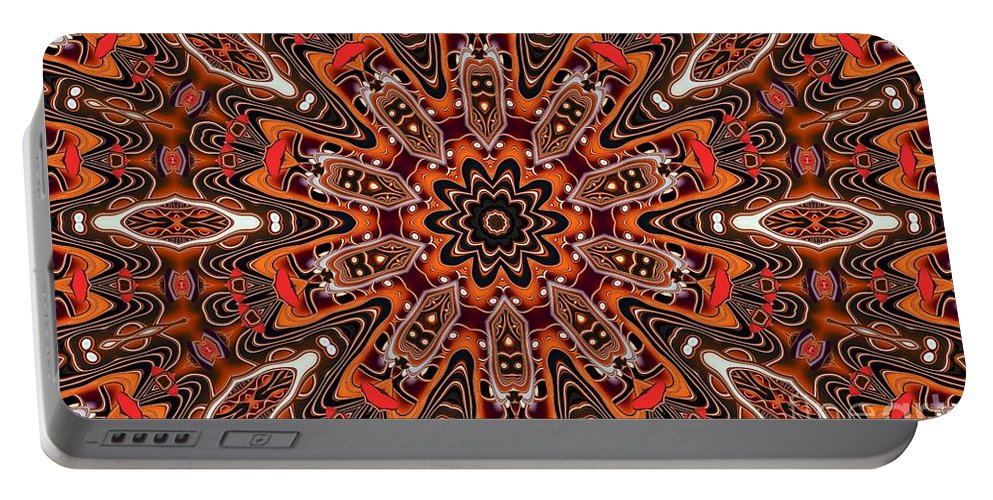 Kaleidoscope Portable Battery Charger featuring the photograph Kaleidoscope 85 by Ron Bissett