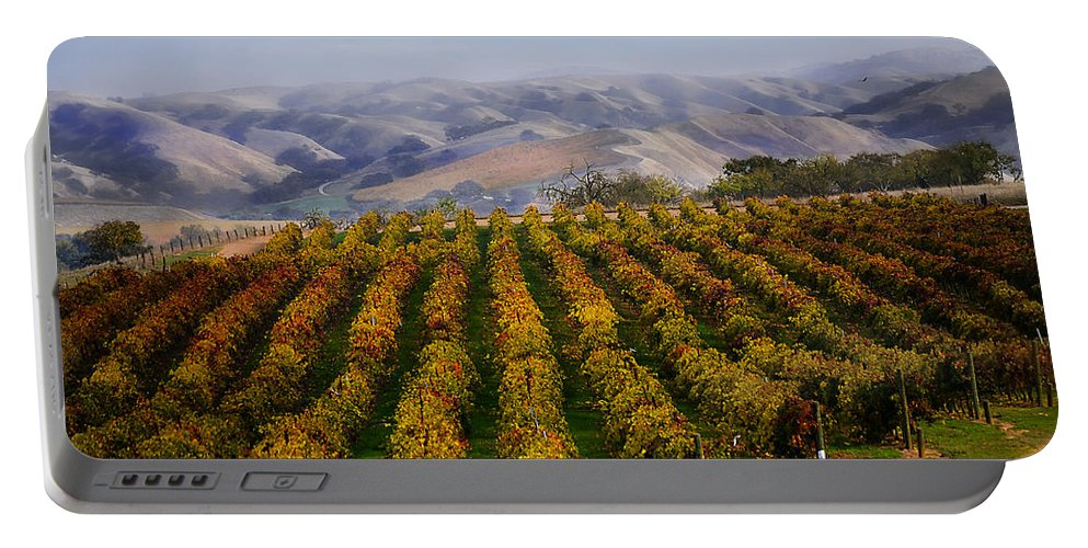 Vineyards Portable Battery Charger featuring the photograph Kalthoff Common Vineyard by Karen W Meyer