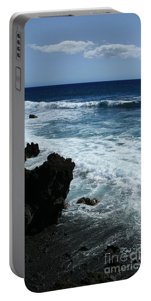Aloha Portable Battery Charger featuring the photograph Kanaio Ahihi Kinau Maui Hawaii by Sharon Mau