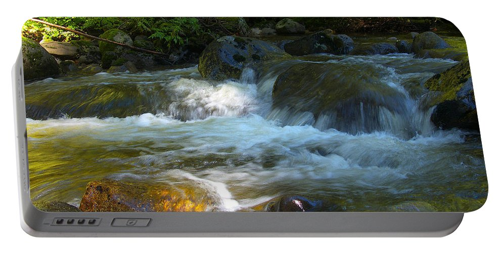 Creek Portable Battery Charger featuring the photograph Kanaka Creek by Sharon Talson