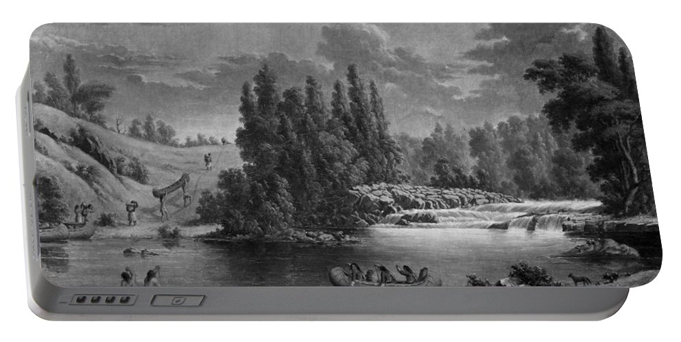 1851 Portable Battery Charger featuring the photograph Kane: White Mud Portage by Granger