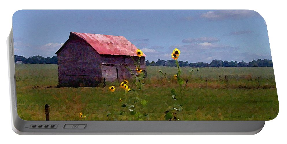 Landscape Portable Battery Charger featuring the photograph Kansas Landscape by Steve Karol