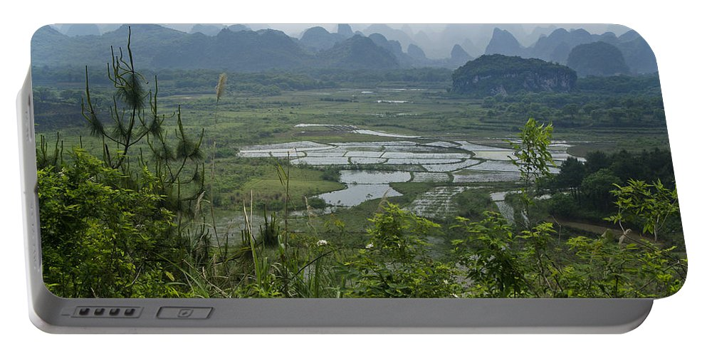 Asia Portable Battery Charger featuring the photograph Karst Landscape of Guangxi by Michele Burgess