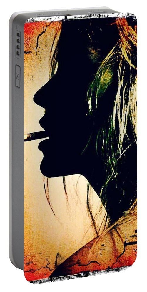 Model Portable Battery Charger featuring the digital art Kate Moss by Dominick Conde