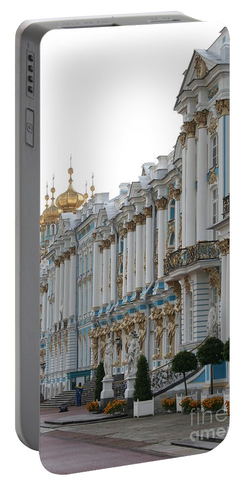 Palace Portable Battery Charger featuring the photograph Katharinen Palace And Onion Domes - Russia by Christiane Schulze Art And Photography