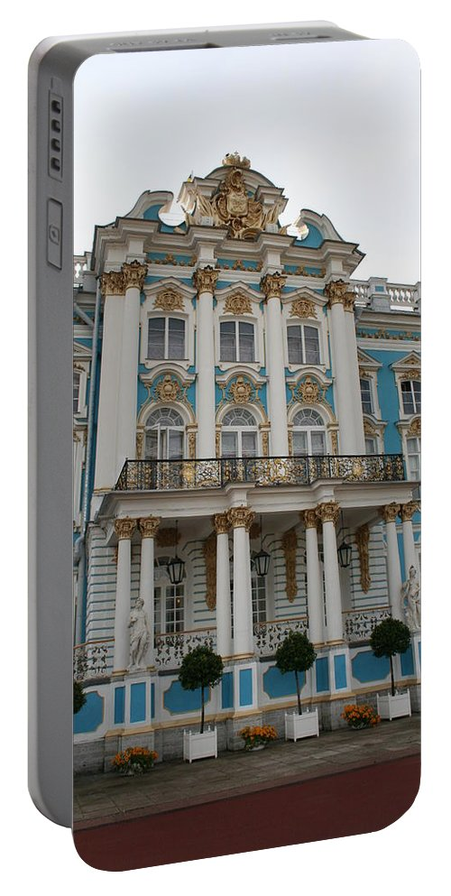 Palace Portable Battery Charger featuring the photograph Katharinen Palace I - Russia by Christiane Schulze Art And Photography