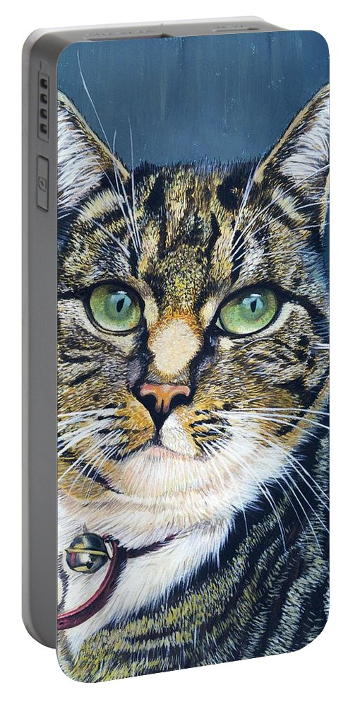 Katja Portable Battery Charger featuring the painting Katja by Arie Van der Wijst