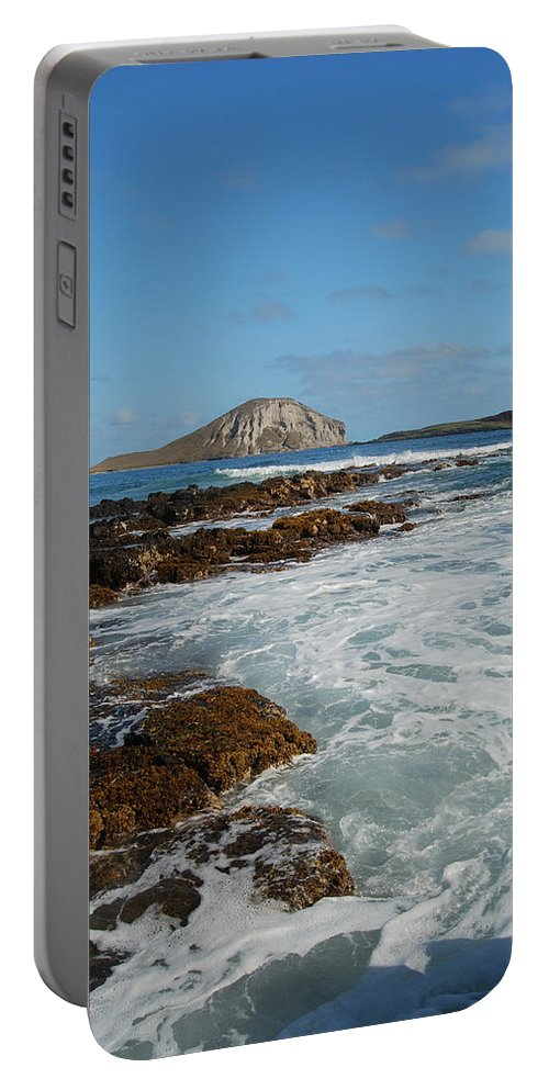 Manana Island Portable Battery Charger featuring the photograph Kaupo Beach by Michael Peychich