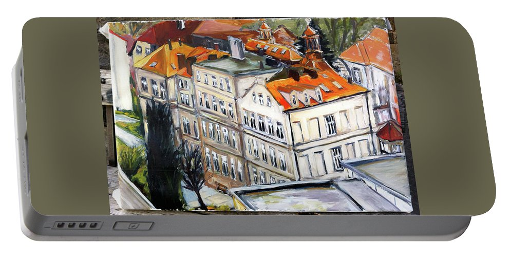Landscape Portable Battery Charger featuring the painting Kdo Tu Studoval by Pablo de Choros