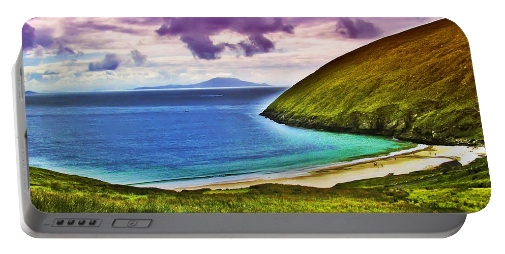 Keem Bay Portable Battery Charger featuring the photograph Keem Bay - Ireland by Bill Cannon