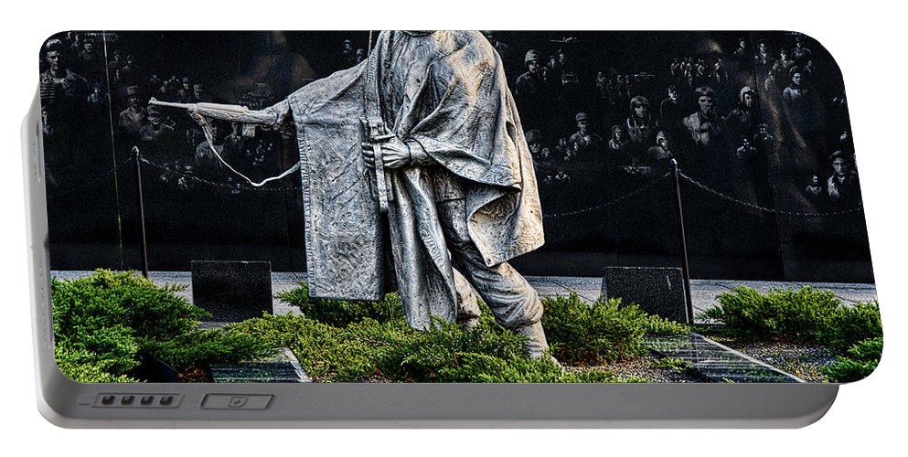 Soldier Portable Battery Charger featuring the photograph Keep Going...for Them by Christopher Holmes