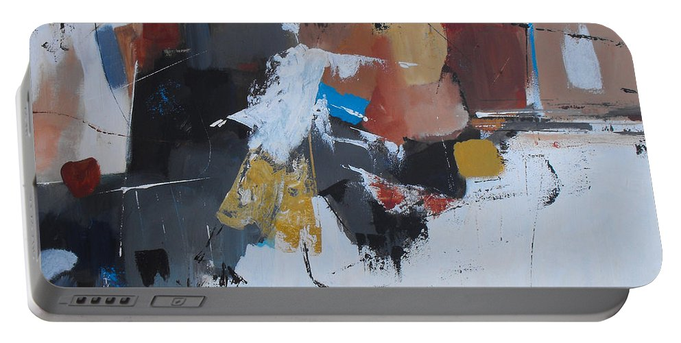 Abstract Portable Battery Charger featuring the painting Keep On Dancin' by Ruth Palmer