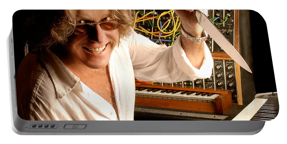 Keith Emerson Portable Battery Charger featuring the photograph Keith Emerson By Gene Martin by David Smith