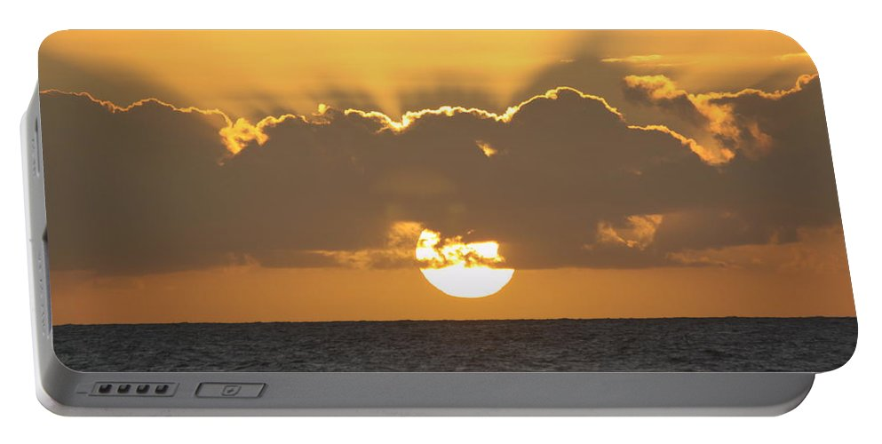 Sunset Portable Battery Charger featuring the photograph Kekaha Sunset by Lauri Novak