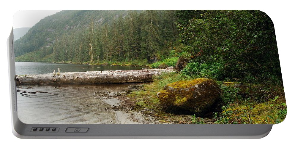 Alaska Portable Battery Charger featuring the photograph Ketchikan's Misty Fjord by Michael Peychich