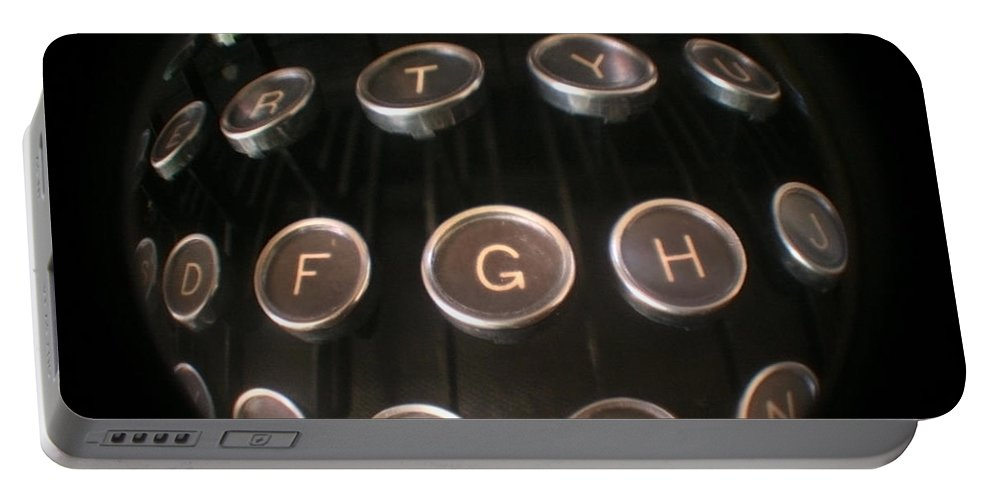 Typewriter Portable Battery Charger featuring the photograph Key To Communication by Jeffery Ball