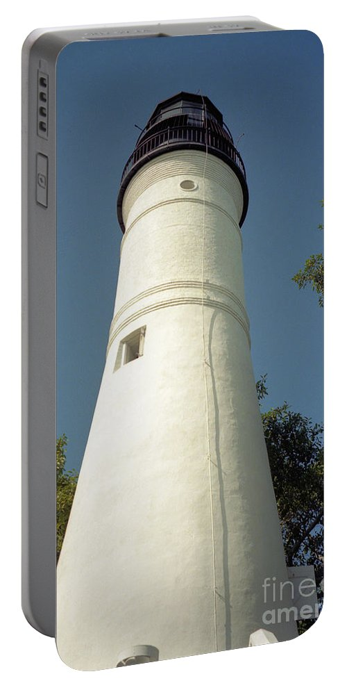 Lighthouses Portable Battery Charger featuring the photograph Key West Lighthouse by Richard Rizzo