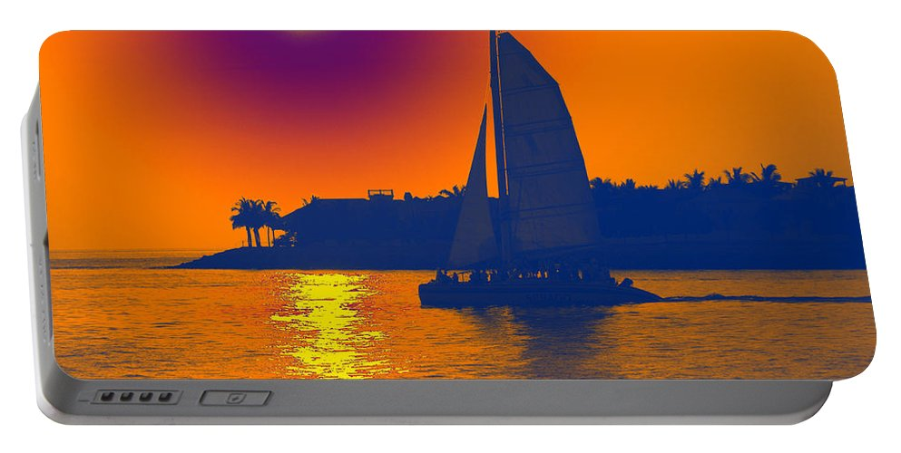 Key West Portable Battery Charger featuring the photograph Key West Passion by Steven Sparks