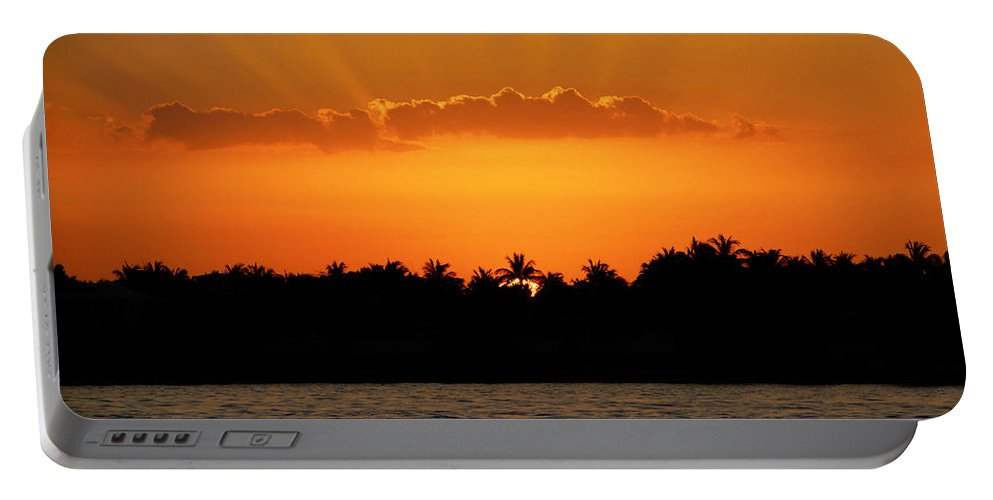 Sunset Portable Battery Charger featuring the photograph Key West Sunset 25 by Bob Slitzan